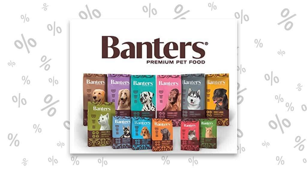 """<span class=""""rabattheader"""">15 %</span> Rabatt bei Visan: Banters Premium Pet Food"""