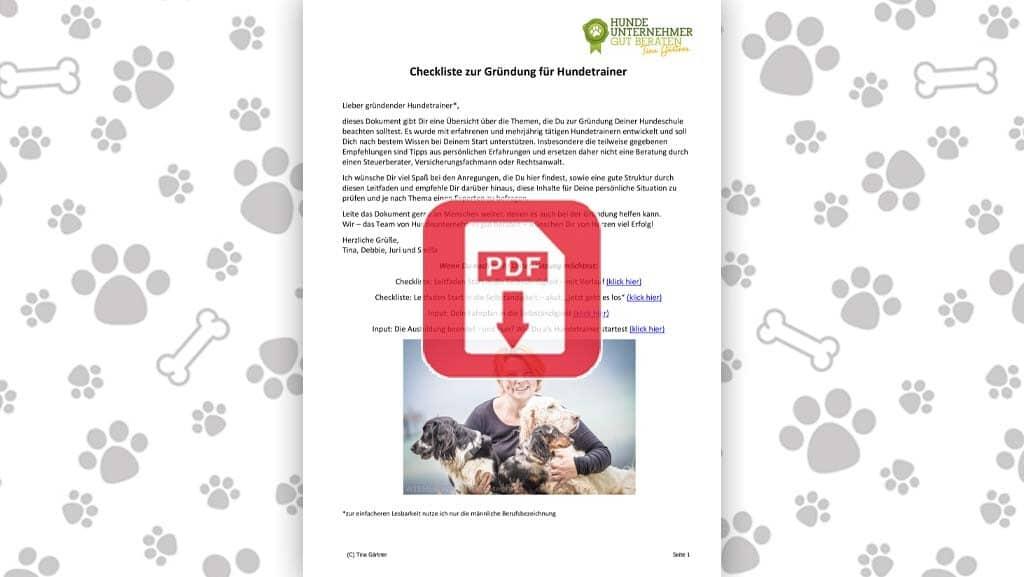 Download: Checkliste zur Gründung für Hundetrainer