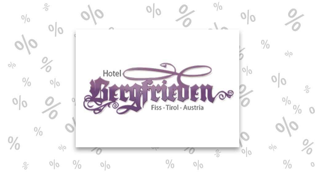 """<span class=""""rabattheader"""">5 – 10 %</span> Rabatt bei Hotel Bergfrieden in Fiss"""